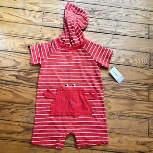 Carter's crab shoes onesie